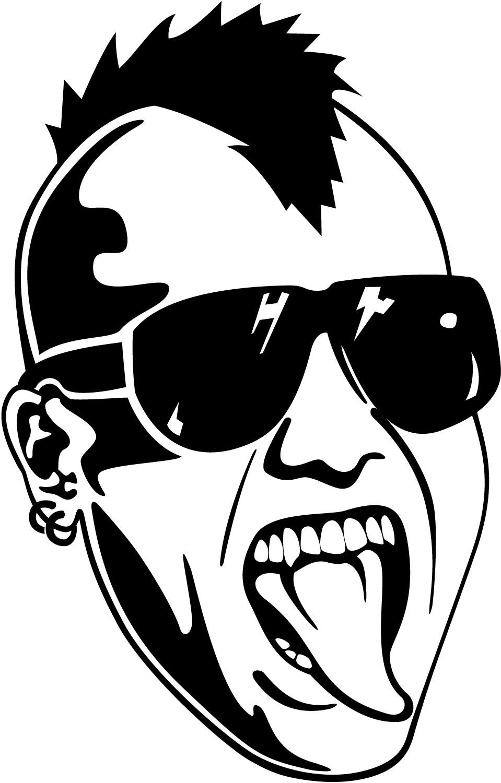Mohawk clipart logo Skull Art Wallpaper: Skull Vector