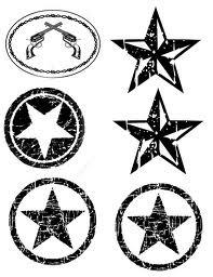Punk clipart western star Western art Stencils 78 images