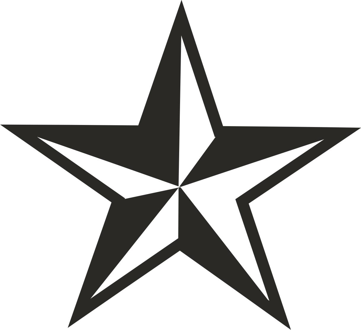 Punk clipart western star #12