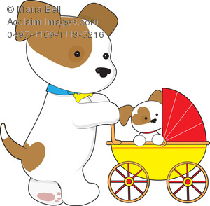 Pet clipart baby dog Puppy Cute Art Mother in