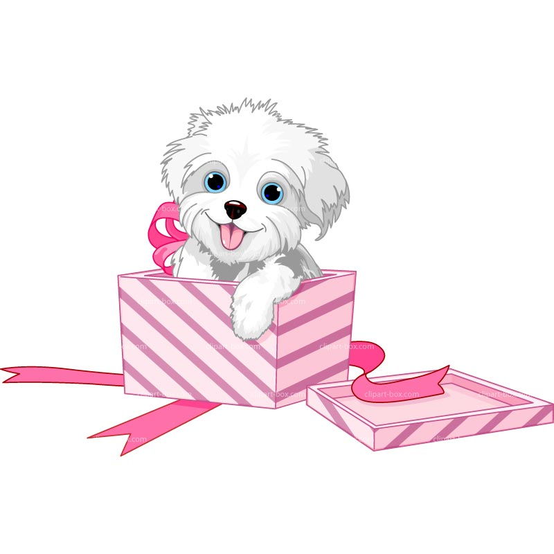 Box clipart puppy Royalty GIFT GIFT CLIPART DOG