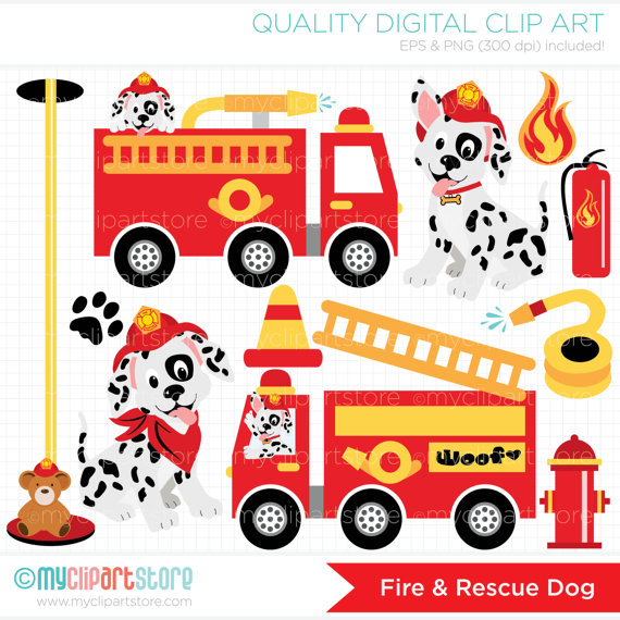 Fire Truck clipart firefighter tool / / Fire Dog firefighter