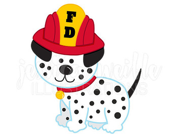 Firefighter clipart bulldog Fighter Fire Vintage Graphics Digital
