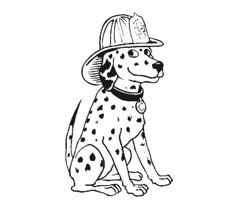 Firefighter clipart pekerjaan  Coloring Outline For Pages