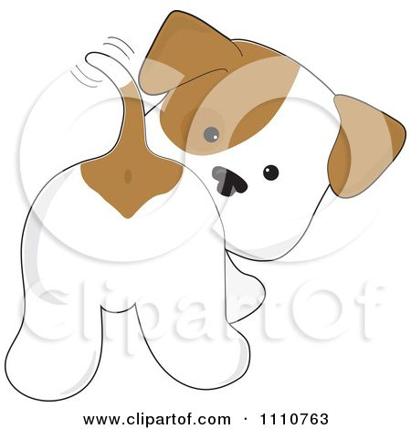 Pets clipart animated And Looking Puppy dog Tail