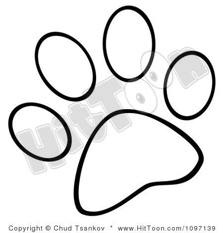 Drawn puppy paw print Print Paw Clipart  Free