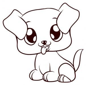 Drawn puppy adorable puppy To a draw to 17