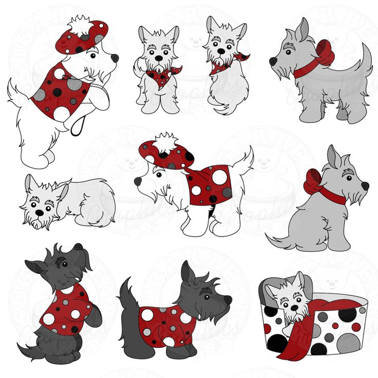 Paw clipart scottie Of on best Mania Part