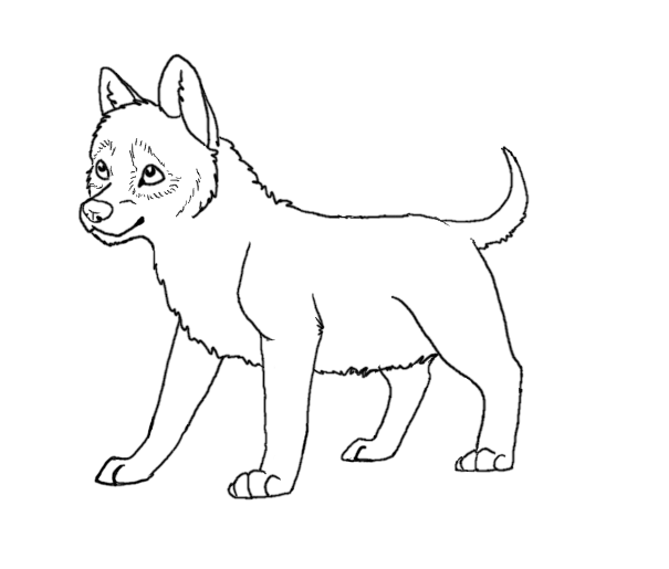 Wolf clipart wolf pup Wolf drawing Pup outline Wolf