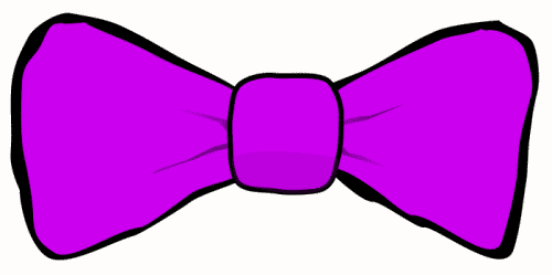 Purple clipart Art Purple Bowtie Clip Download