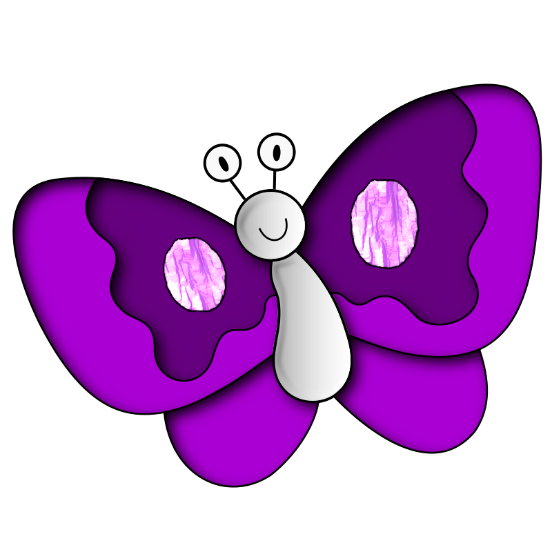 Purple clipart 20 butterfly purple Butterfly collection