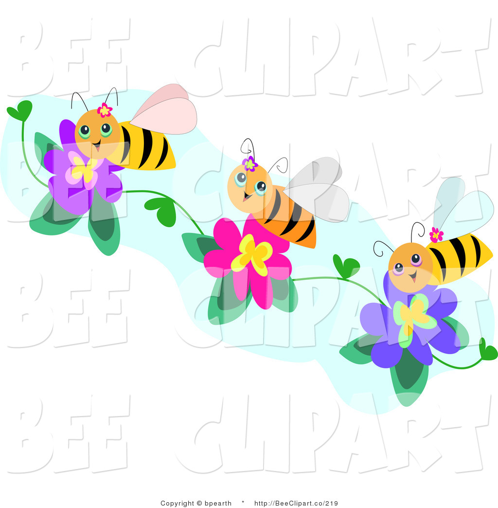 Bees clipart three Bee collection clipart bees Stock