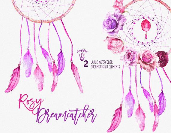 Dreamcatcher clipart pink Dreamcatcher Dream boho art Cacacolors