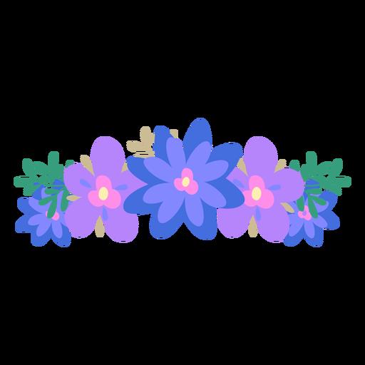 Blue Flower clipart crown Crown & png Transparent crown