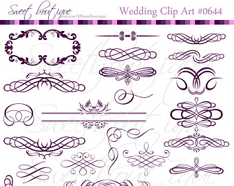 Calligraphy clipart wedding invitation Digital Wedding Calligraphy Wedding Clipart
