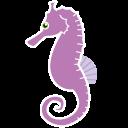 Seahorse clipart purple #14