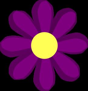 Yellow Flower clipart springtime flower Clip Purple Spring Spring clip