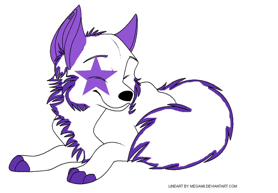 Wolf clipart purple Name on Price DeviantArt The