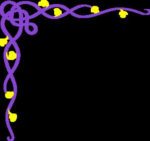 Purple clipart yellow flower Clker Vine com clip Clip
