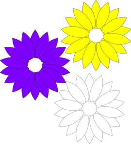 Yellow Flower clipart purple flower Yellow vector Art Flowers art