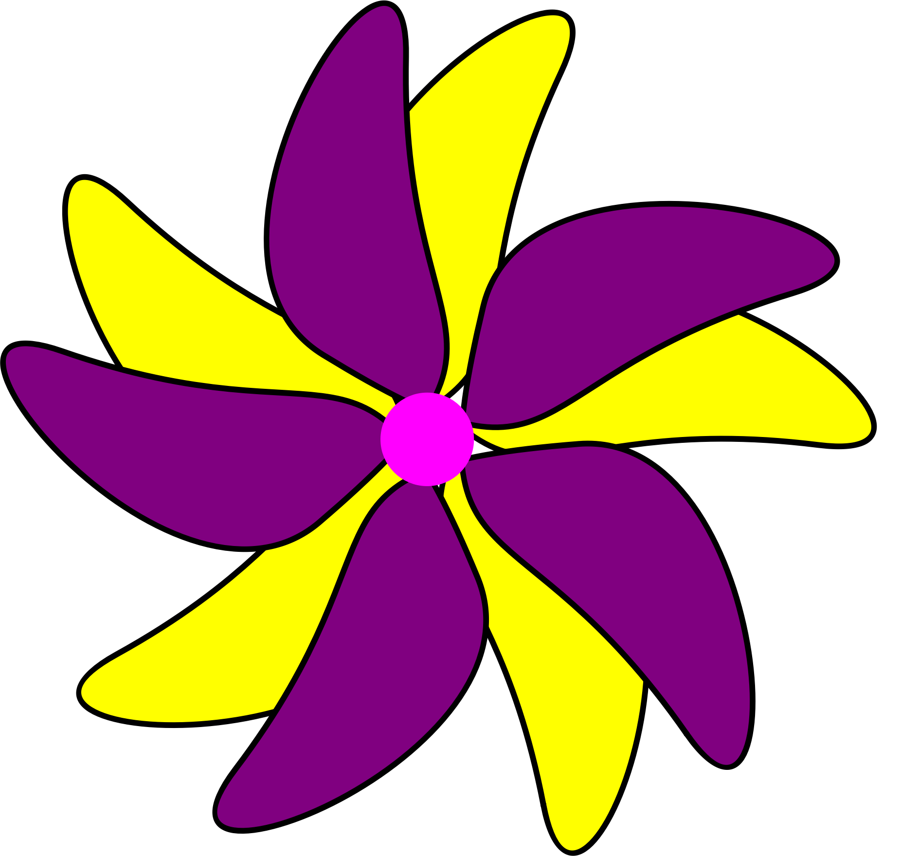 Yellow Flower clipart purple flower Purple and Clipart and Flower