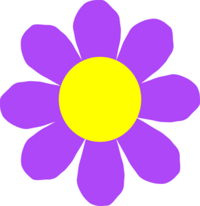 Purple Flower clipart Art Clker Flower Flower