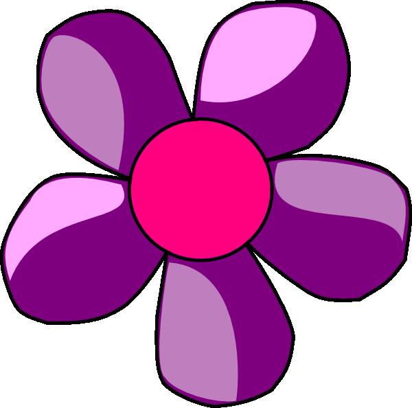 Purple Flower clipart Art Clker Flower this