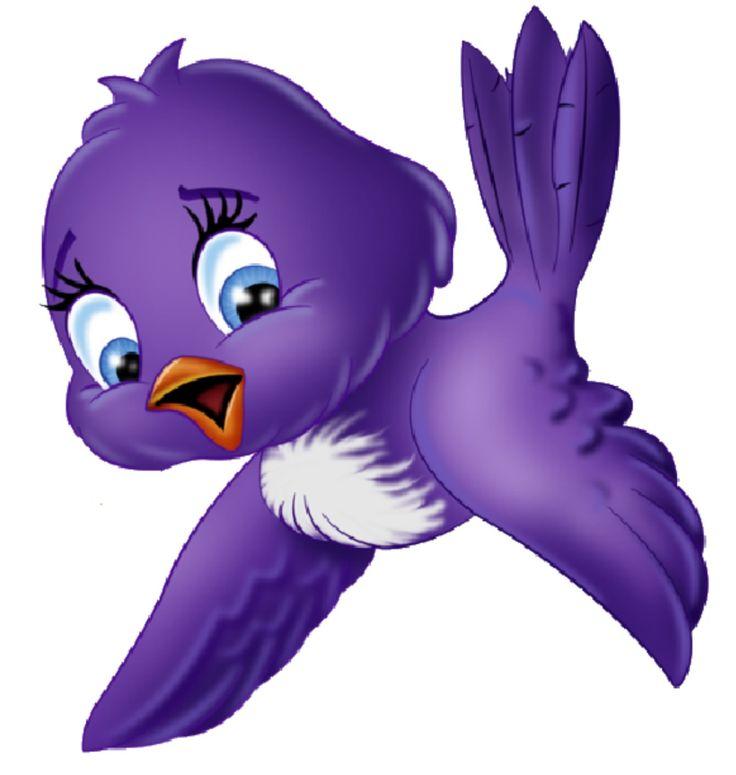 Brds clipart purple And birds clipart cartoon art