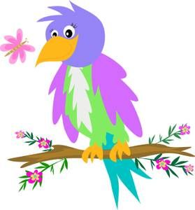 Bird clipart butterfly 66 Purple Flowers best collection