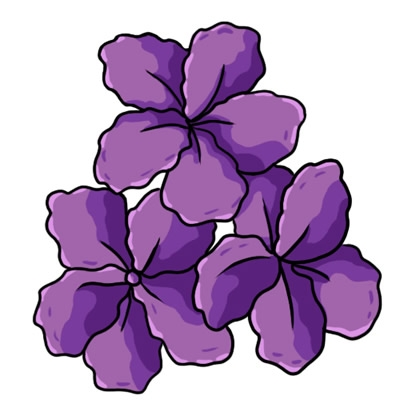 Yellow Flower clipart purple flower Purple collection clipart Yellow flower