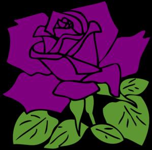 Purple Rose clipart Vector Purple Art art at