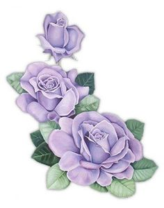Purple Rose clipart animated Gravuras FLORES es manualidades GifsShip
