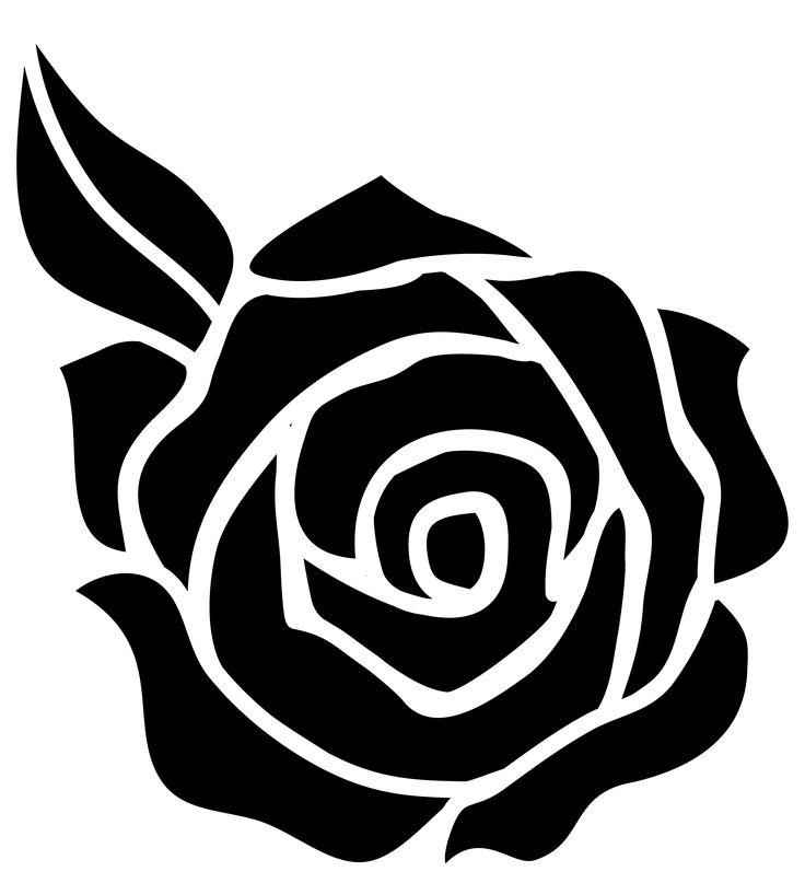 White Rose clipart simple #5