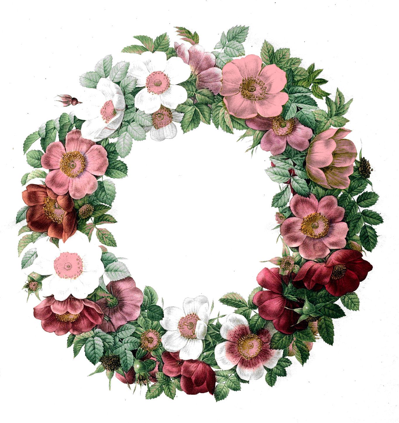 Wreath clipart victorian  art Vintage Clip Art
