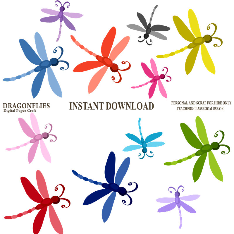 Simple clipart dragonfly Free Popular Art Art for