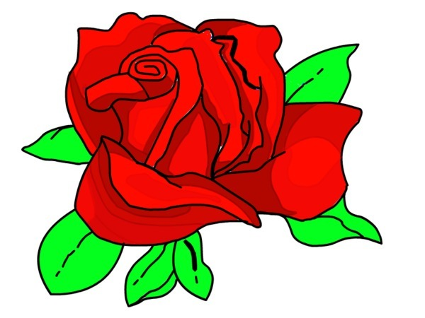 Cartoon clipart rose On Roses Free Clipart Cartoon