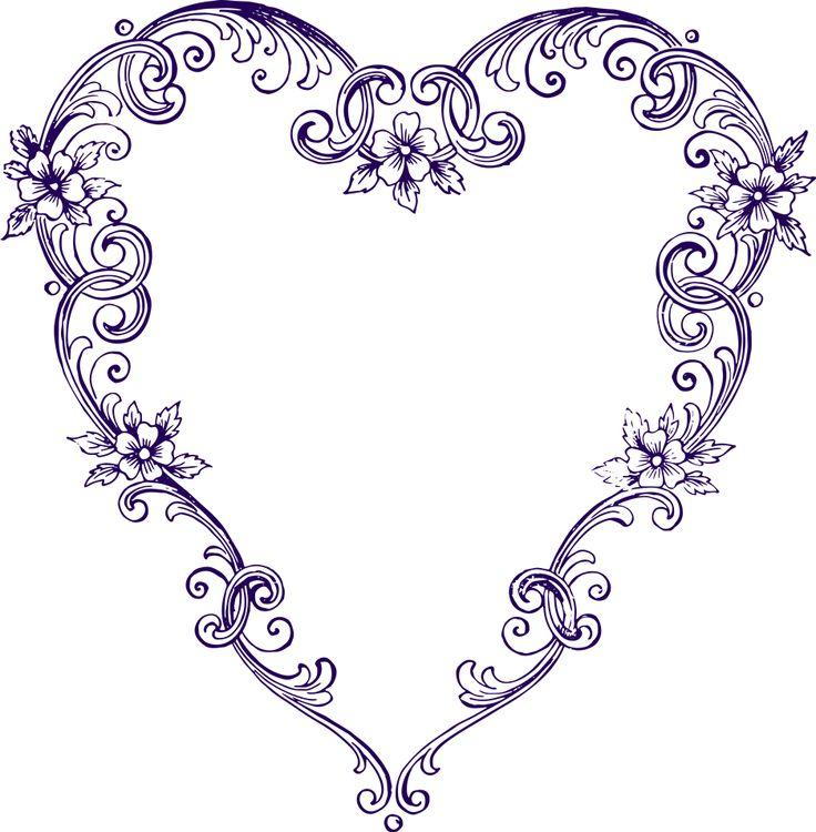 Purple Rose clipart fancy heart Pinterest 20+ art Heart Clip