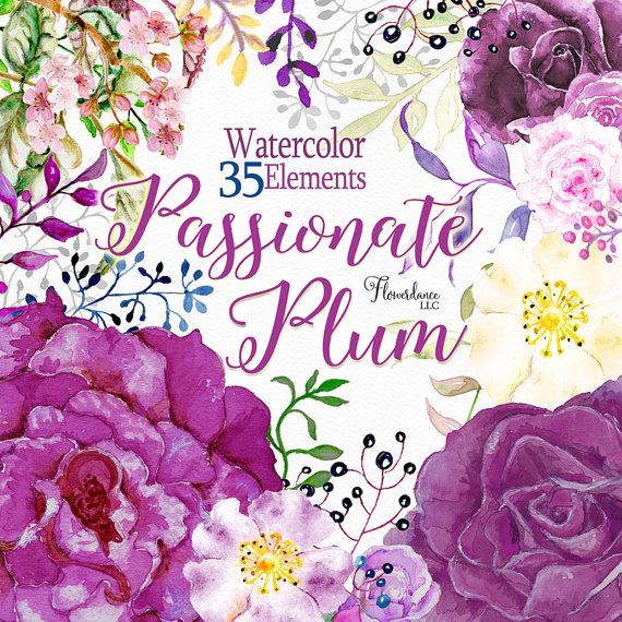Purple Rose clipart floral Flower roses flower flower Purple