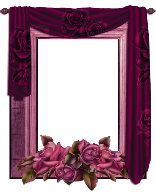 Purple Rose clipart frame Curtain Roses Gallery View size