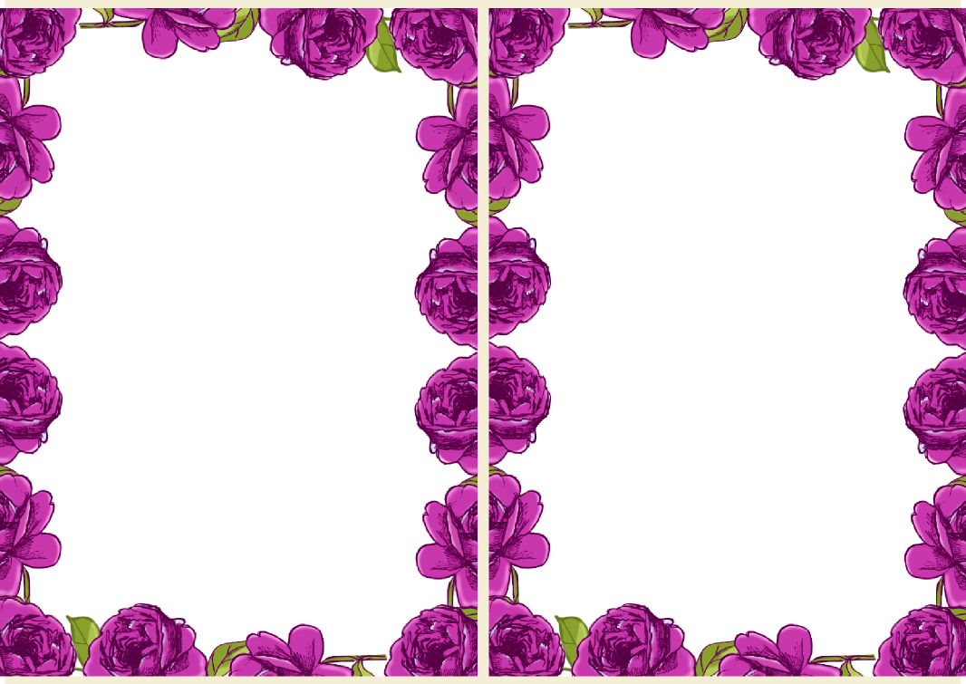 Purple Rose clipart frame In Free design Download Free