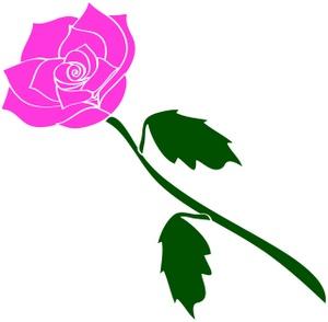Yellow Rose clipart long stem #15
