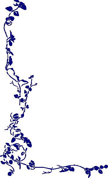 Blue Rose clipart side As: Vine clip image
