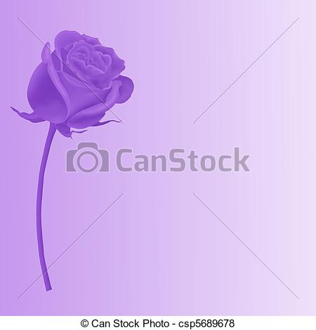 Purple Rose clipart love #2