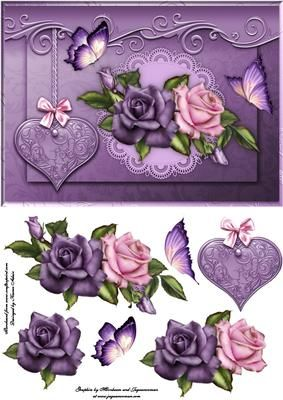 Purple Rose clipart love #7