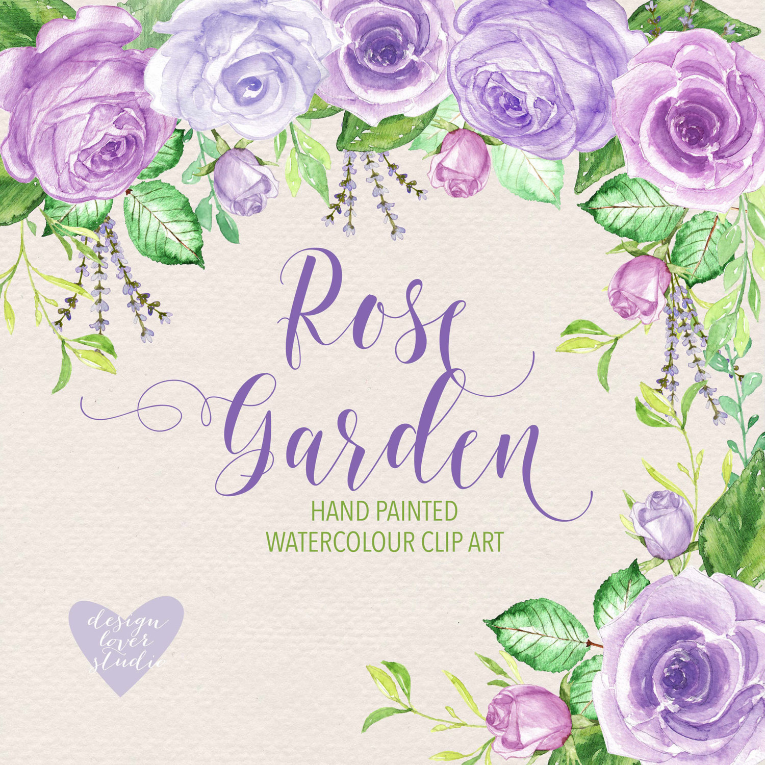 Purple Rose clipart marriage #1