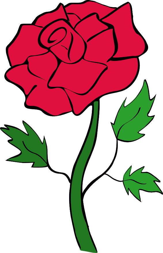 Drawn red rose thorn clipart On Art Art library