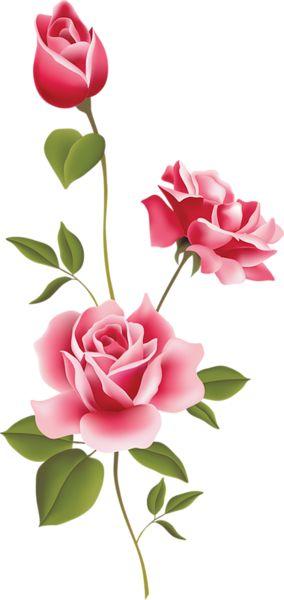 Pink Flower clipart light pink rose Clipart  Decoupage Art Watercolors