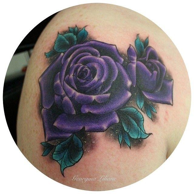 Drawn red rose purple rose Pinterest Best 25+ rose Tattoo