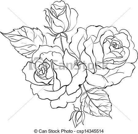 Drawn rose bunch rose Best icons Art Pinterest clip