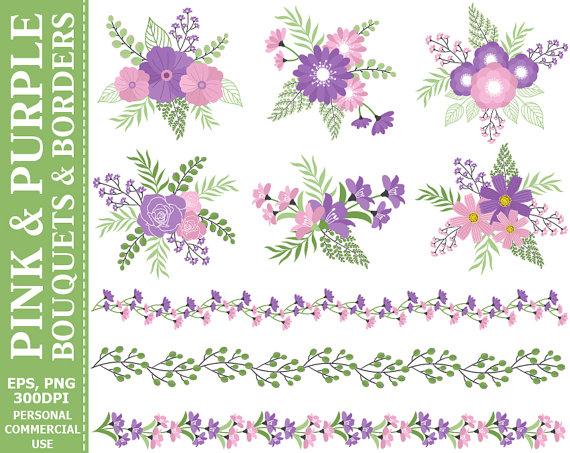 Purple Rose clipart purple bouquet Commercial GET 2 1 and
